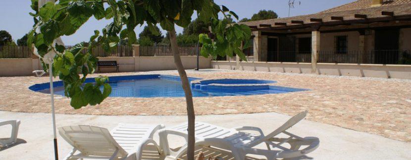 hamacas piscina casa rural Arcadia